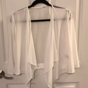 Sheer white cardi wrap- one size